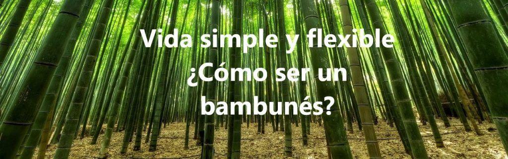 Vida simple y flexible ¿Cómo ser un bambunés?